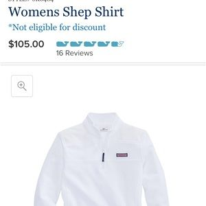 Vineyard Vines White Shep Shirt